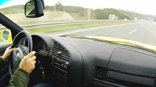 BMW M3 E36 Acceleration Onboard Autobahn Autostrada Highway Turkey Türkei 3 2L Shift down Sound
