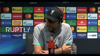 LIVE: Liverpool boss Klopp holds presser ahead of UEFA Super Cup showdown