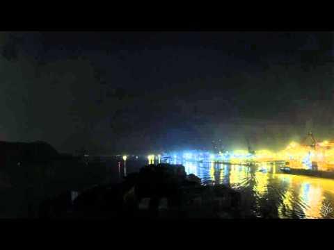 Time-lapse (120x): arrival Nhava Sheva (Mumbai, In