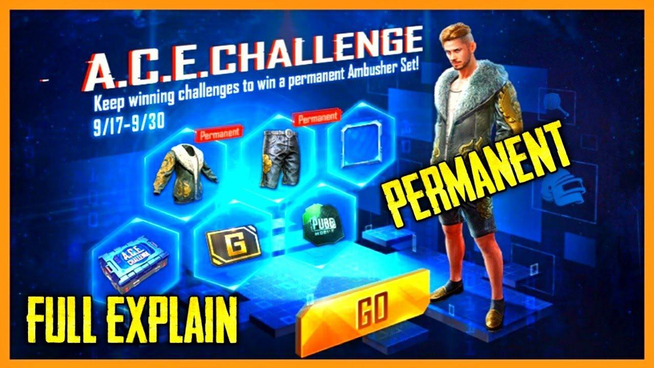 ACE Challenge Event Explain | Get Free Permanent Rewards on Pubg Mobile | Kumari Gamer