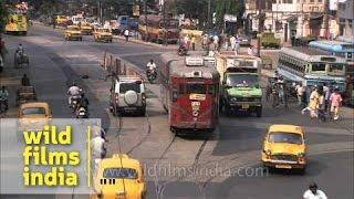 Electric Trams on the roads of Kolkata