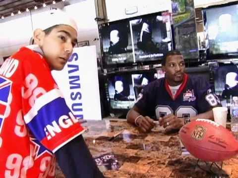 Kayvon meets Lee Evans but not THE REAL Lee Evans (Buffalo Bills NFL)