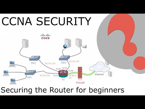 Cisco Router Configuration Step By Step Part2 - Securing The Router For Begginers - CCNA