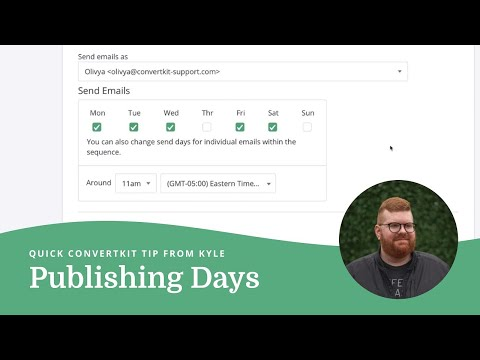 Controlling automated email sending with Publishing Days in ConvertKit