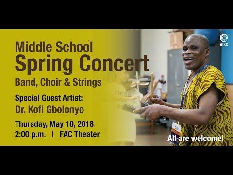 Middle School Spring Concert 2017-18