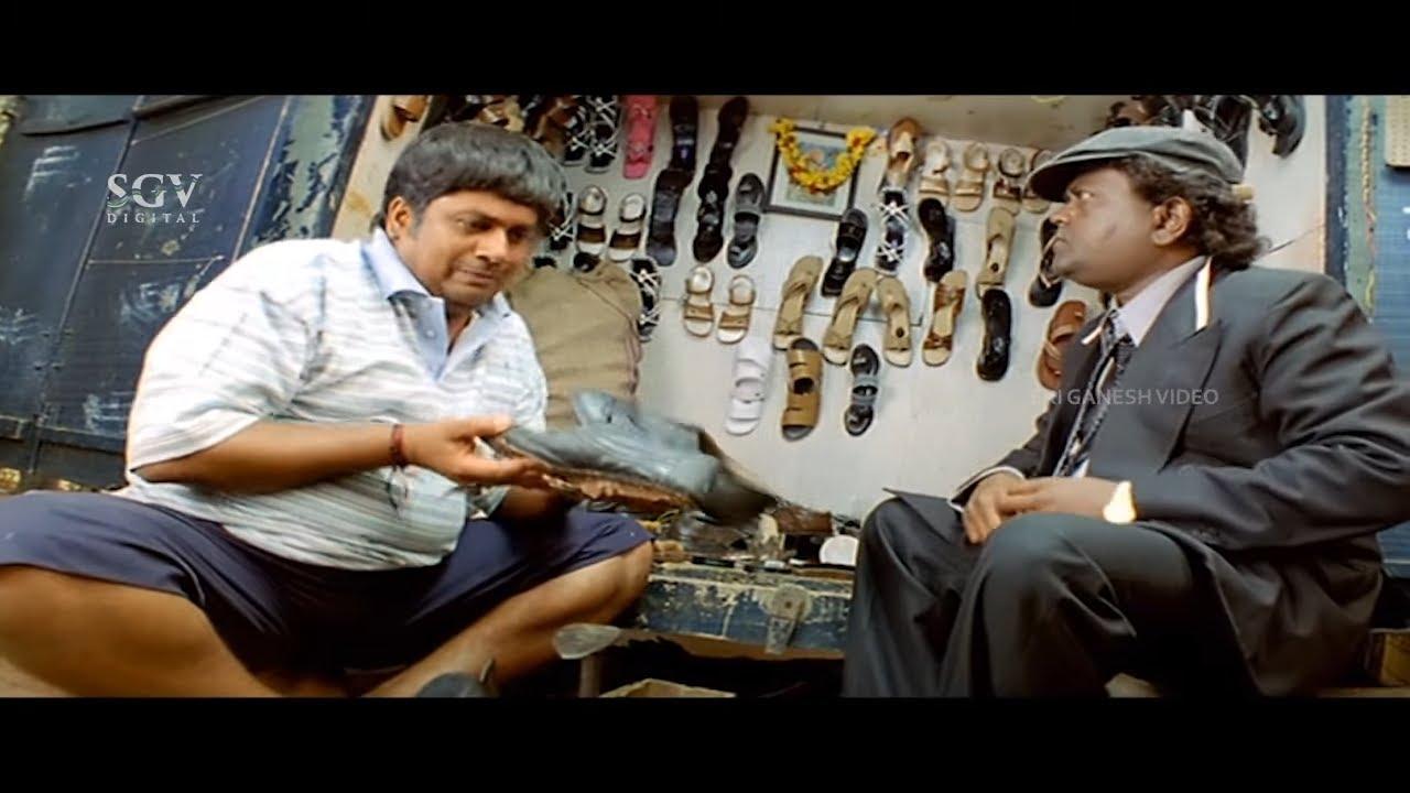 Rangayana Raghu Refuse to Do Shoe Polish | Comedy Scene | Ambari Kannada Movie