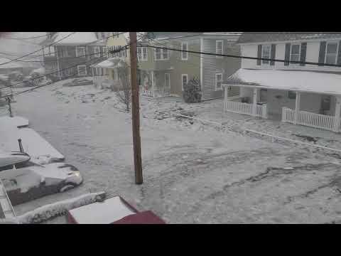 Blizzard 2018 from Winthrop Massachusetts A bombogenesis