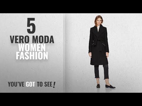 Vero Moda Women Fashion [2018 Best Sellers]: Vero Moda Women's Pisa Long Wool Jacket, Black Beauty,