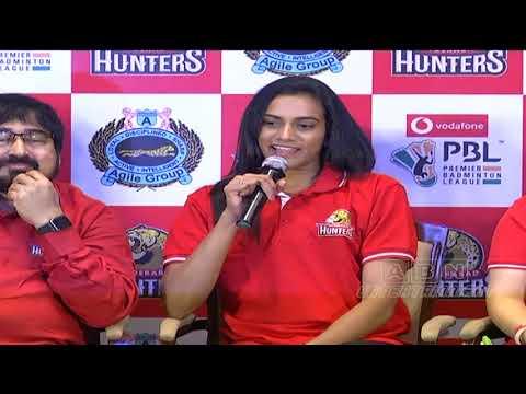 PV Sindhu Launches Hyderabad Hunters Team | Indian Premier Badminton League | ABN Entertainment