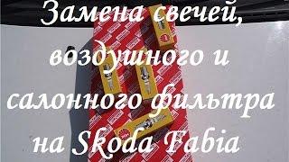 Замена свечей и фильтров на Skoda Fabia