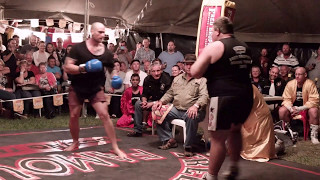 Another boom boom Butterbean knock out! Outback Fight Club - Burnett Heads