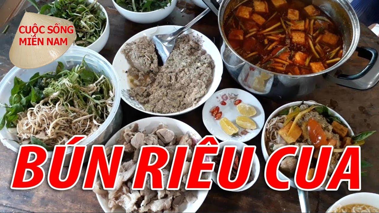 BÚN RIÊU CUA ĐỒNG - MÓN NGON DÂN DÃ MIỀN TÂY | Nam Việt | VietNam Travel - Food
