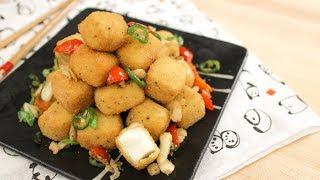 Chili Garlic Tofu Bites Recipe เต้าหู้ผัดพริกเกลือ - Hot Thai Kitchen!