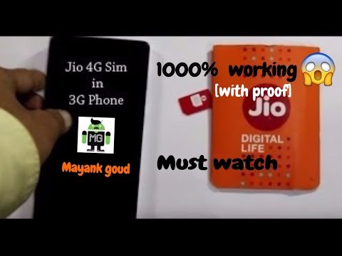 USE JIO SIM IN ANY 3G PHONE WITH PROOF