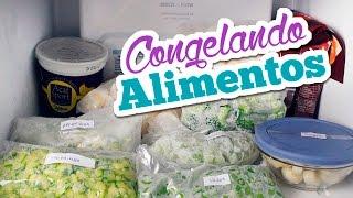 Como congelar alimentos saudáveis | Rotina de dona de casa | Bruna Dalcin