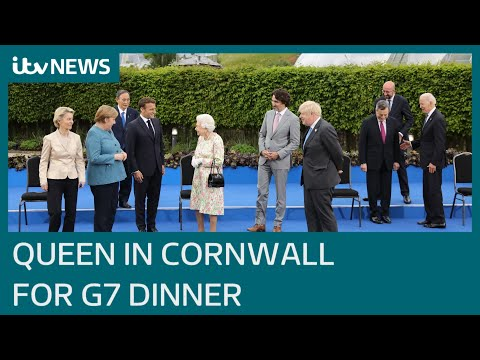 Queen and senior royals meet G7 leaders at Eden Project engagement | ITV News