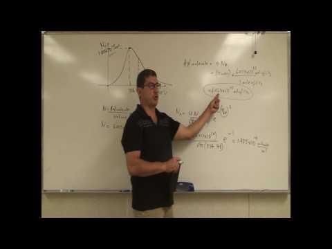 Maxwell Boltzmann Distribution of Gas Speeds Example 2