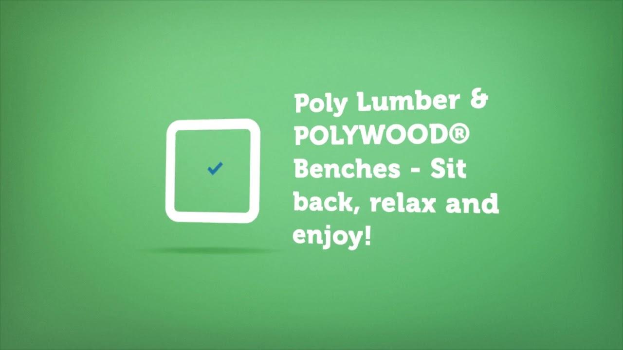Polywood Benches | Premium Poly Patios :  (877-904-1234)