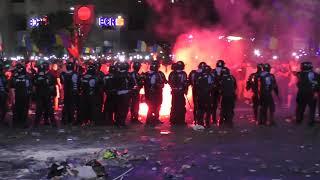 Protestatari violenti - sursa Jandarmeria Romana
