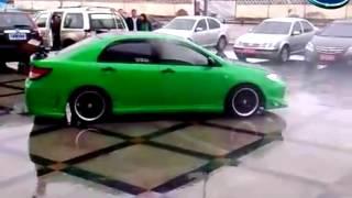 Зеленый BYD F3 (БИД Ф3) жжет покрышки дрифт