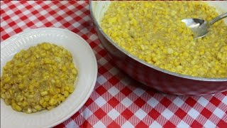 Southern Style Creamed Corn  Creamed Corn Recipe  Thanksgiving 2016  Noreens Kitchen