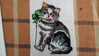 Вышивка крестиком: Кошка
