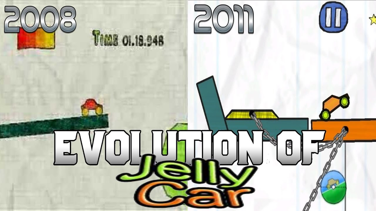 Graphical Evolution of JellyCar (2008-2011)