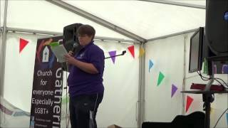 Pride Cymru #FaithTent 2015 - Queerly Belovéd - A session of poetry and soul - Dr Nici Gittens
