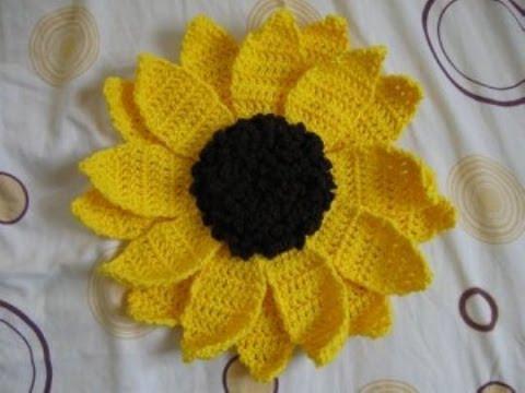Sunflower Granny Square Blanket