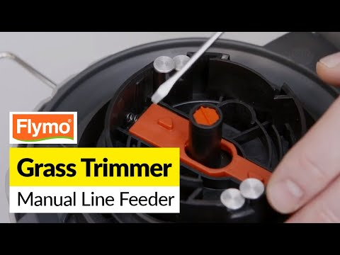 How To Replace The Manual Line Feeder On A Flymo Grass Strimmer Youtube