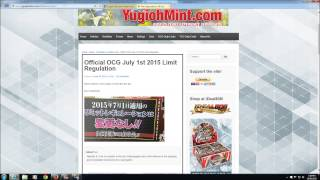 Yu-Gi-Oh OCG July 1st 2015 Banlist - ABSOLUTELY NOTHING CHANGED! SAME LIST FOR NEXT 3 MONTHS
