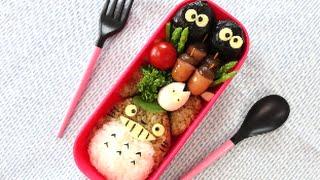 Totoro Bento Lunch Box(Kyaraben)Recipeトトロキャラ弁の作り方(レシピ)