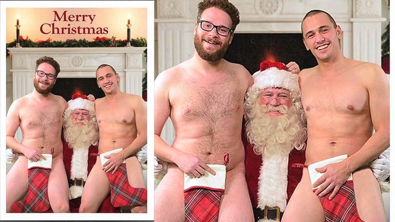 Christmas cards with pictures of naked men