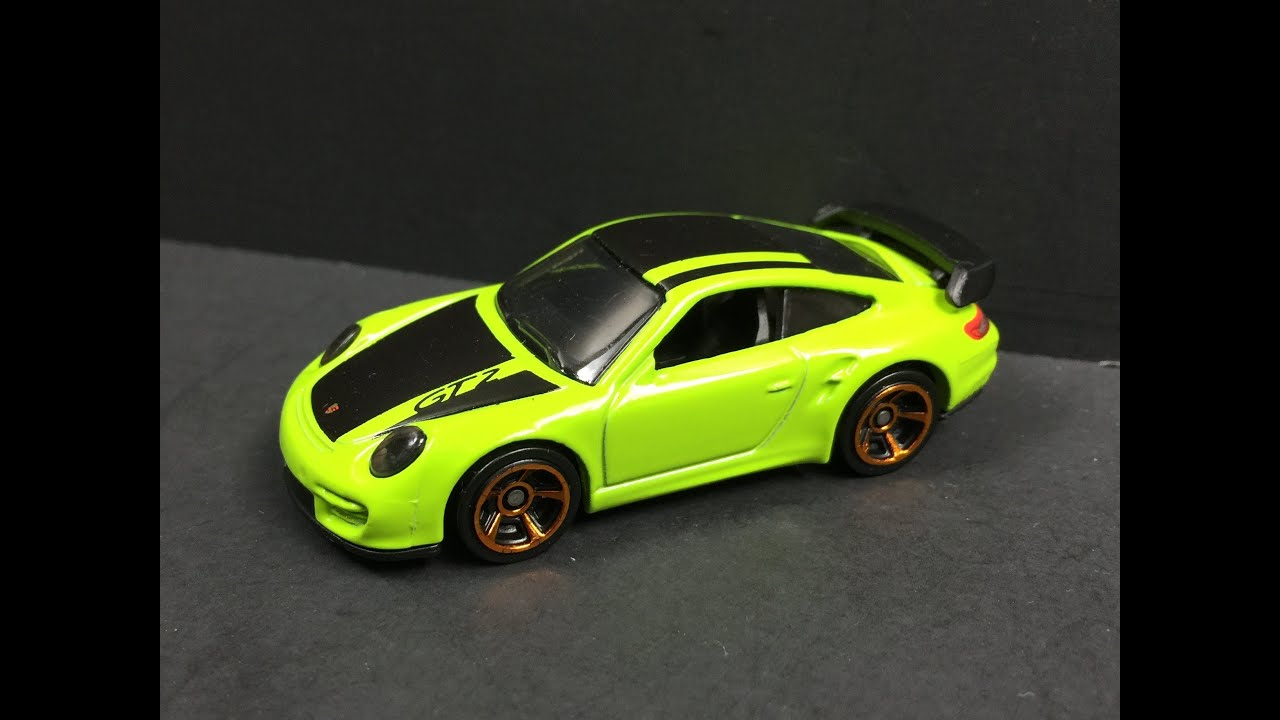 hot wheels porsche 911 gt2 lime green 1 64 youtube