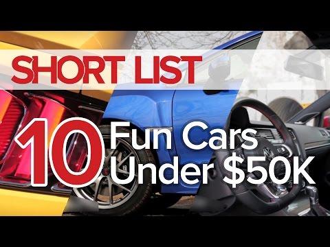 Top 10 Fun Cars Under $50,000 - The Short List