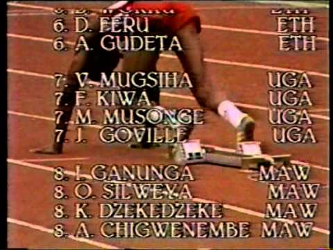 Innocent Egbunike 1987 All African Games 400,4x400