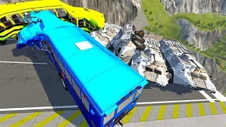 Beamng Drive - How many BTR do we need to stop a school bus?