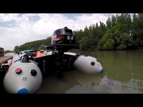 Hangkai 6 HP chinese outboard motor speed test