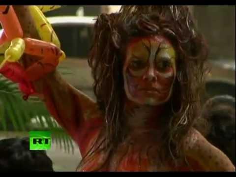 Venezuela saluda el arte corporal en su capital