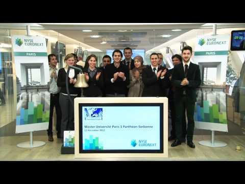Les étudiants en finance de l'Université Panthéon-Sorbonne en visite chez NYSE Euronext