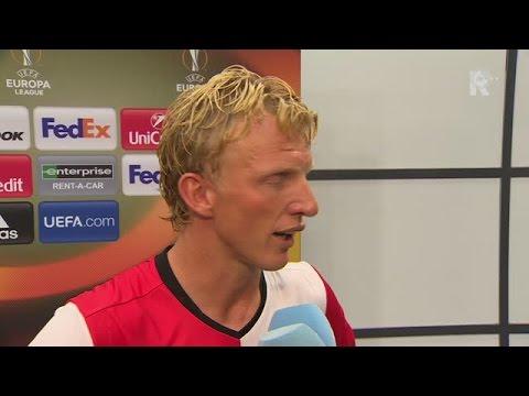 Dirk Kuyt na afloop van Feyenoord - Manchester United