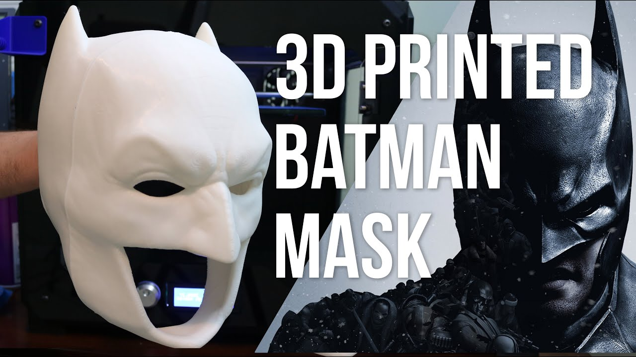 the ultimate 3d printed batman mask replica prop part 1 youtube. Black Bedroom Furniture Sets. Home Design Ideas