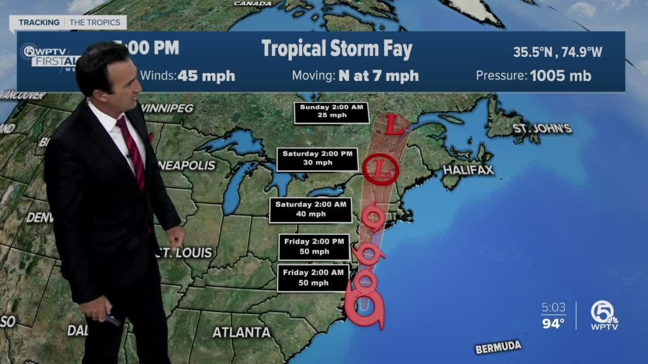 Tropical Storm Fay forms off North Carolina coast, likely to make ...