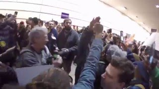 Nazi salute causes chaos at Trump rally