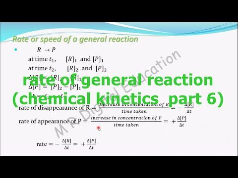 rate of general/ hypothetical reaction  (chemical kinetics part 6 for CBSE class 12 and JEE, IIT)