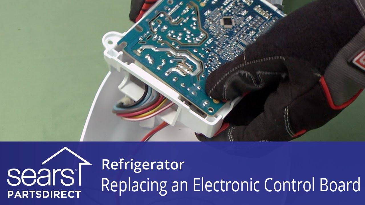 How To Replace A Refrigerator Electronic Control Board Youtube Unit Parts Diagram List For Model 609215810 Searsparts Faucet