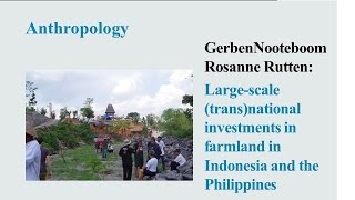 Gerben Nooteboom & Rosanne Rutten -  Large scale transnational investments in farmland