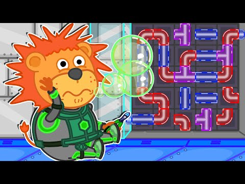 Lion Family Arcade Game 🧩 Space Puzzle Game | Cartoon For Kids