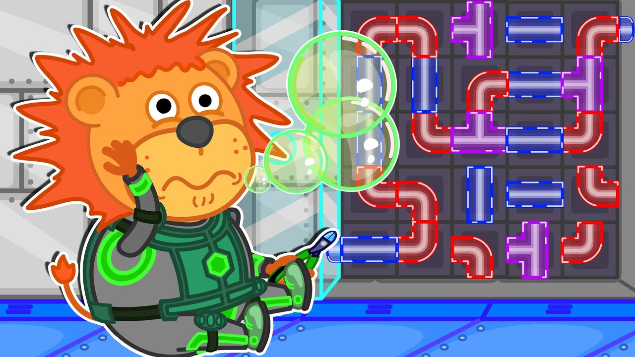 Lion Family Arcade Game ? Space Puzzle Game | Cartoon for Kids