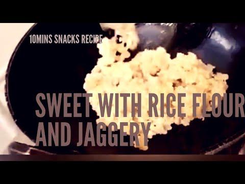 Sweet with rice flour and jaggery | Arisi maavu sweet ...